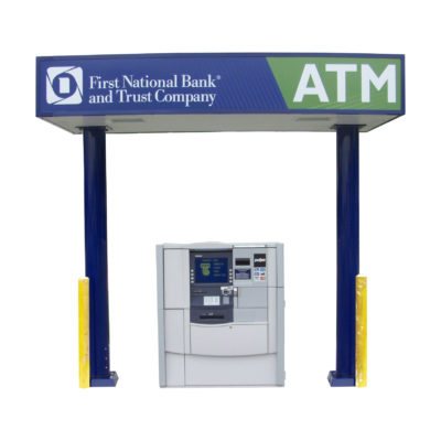 Model 5800 Canopy w/2 Support Diebold  sc 1 st  Heritage Industries & Canopies | The World Leader in ATM Kiosks u0026 Enclosures - Heritage ...